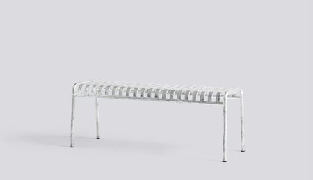 Lavice Palissade Bench Hot Galvanised