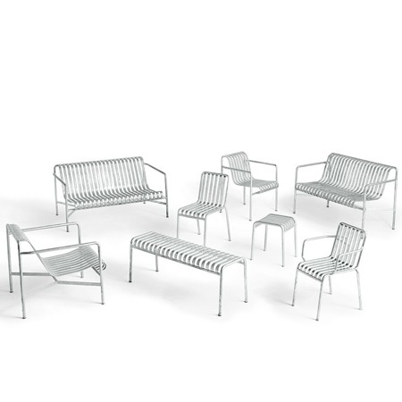 Lavice Palissade Bench Hot Galvanised galerie 0
