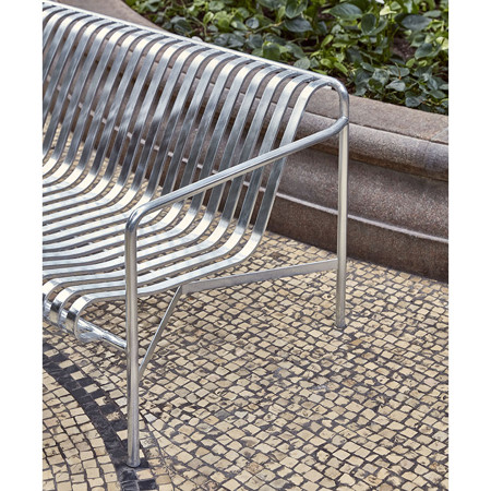 PALISSADE DINING BENCH HOT GALVANISED galerie 1