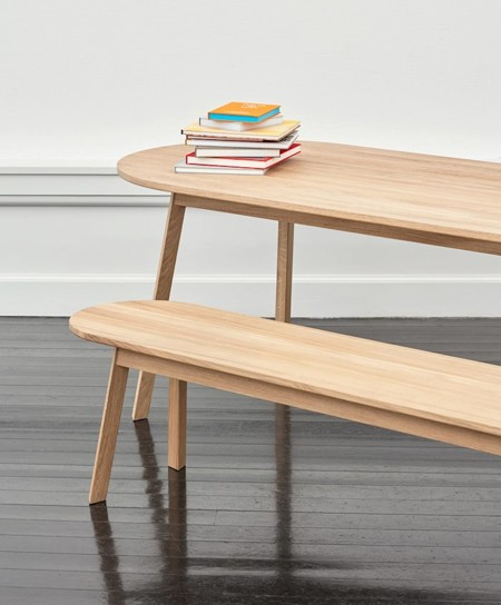 TRIANGLE LEG TABLE/BENCH galerie 0