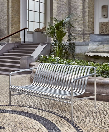 Lavice Palissade Dinning Bench Hot Galvanised