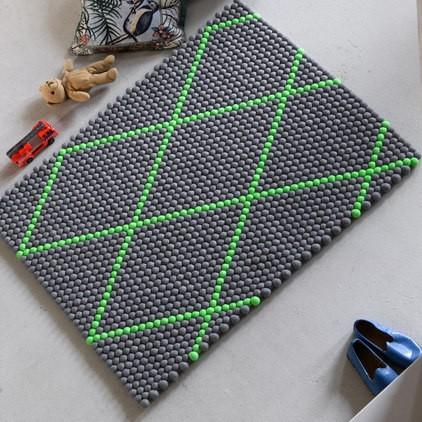 DOT - ELECTRIC GREEN RUG